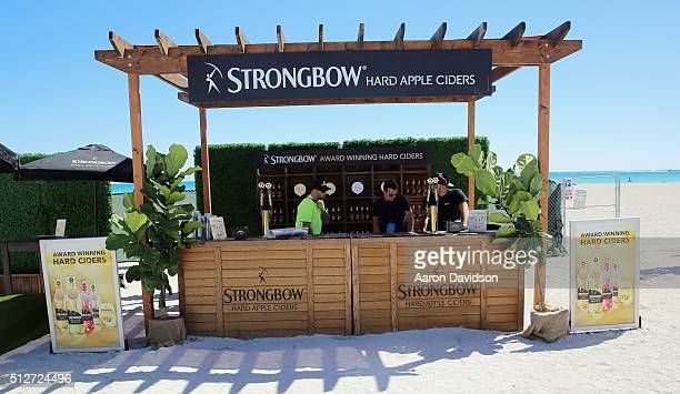Strongbow Hard Apple Cider on display at Goya Foods Grand Tasting Village Featuring MasterCard Grand Tasting Tents KitchenAid® Culinary...