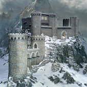 Stronghold in the snowy mountains