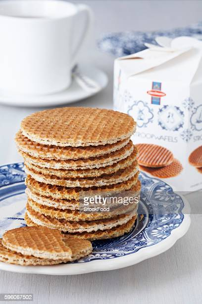 Stroopwafeln (syrup waffle biscuits, Netherlands), stacked