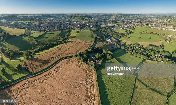 stroud valleys cotswold farms fields aerial photo uk - overhemd en stropdas stock pictures, royalty-free photos & images