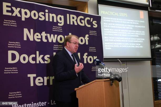 Struan Stevenson London UK Struan Stevenson President of the European Iraqi Freedom Association at press conference on March 7 in London to release...