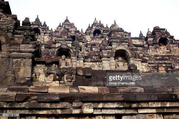 Structural details at Borobudur temple
