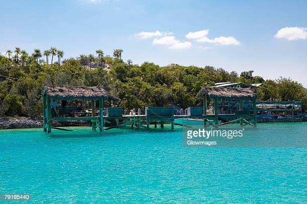 Structure in the sea, Exuma, Bahamas