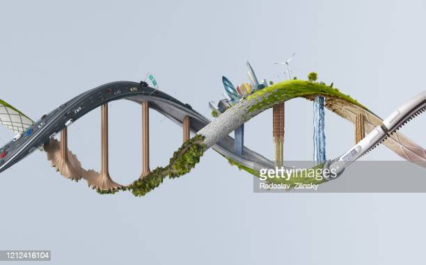dna structure made of various abstract objects - abundance stock pictures, royalty-free photos & images