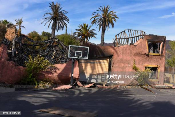 structure of home damaged by california wildfires - agoura hills stock pictures, royalty-free photos & images