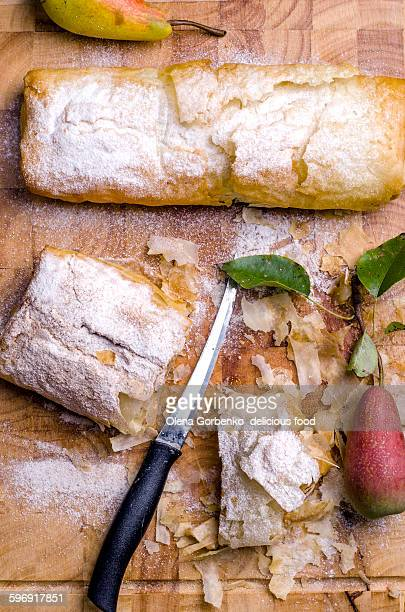 Strudel with pears