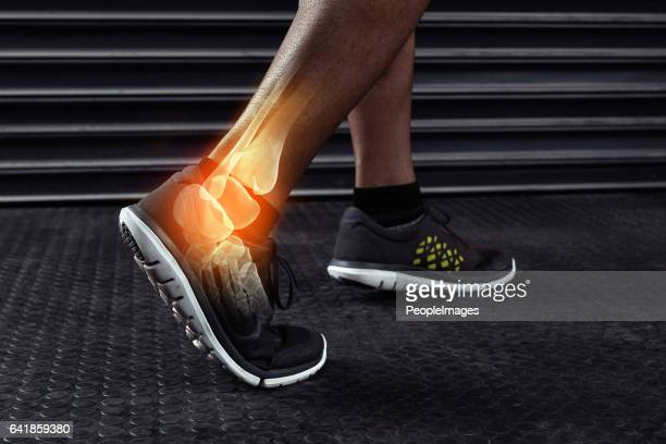 Luchando con una lesión de tobillo