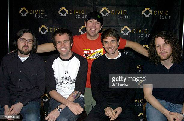 Stryker from KROQ with Scott Shoenbeck Mike Marsh Chris Carrabba and John Lefler of Dashboard Confessional