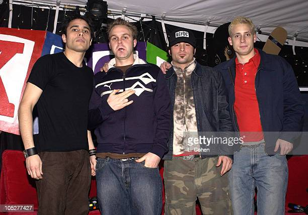 Stryker with Trapt during KROQ 1067 FM Almost Acoustic Christmas Day 2 Backstage at Universal Amphitheatre in Universal City California United States
