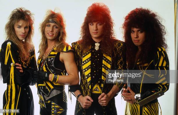 HOLLYWOOD CA APRIL 9 Stryper is a Christian glam metal band from Orange County California The group's lineup consists of Michael Sweet Oz Fox Tim...