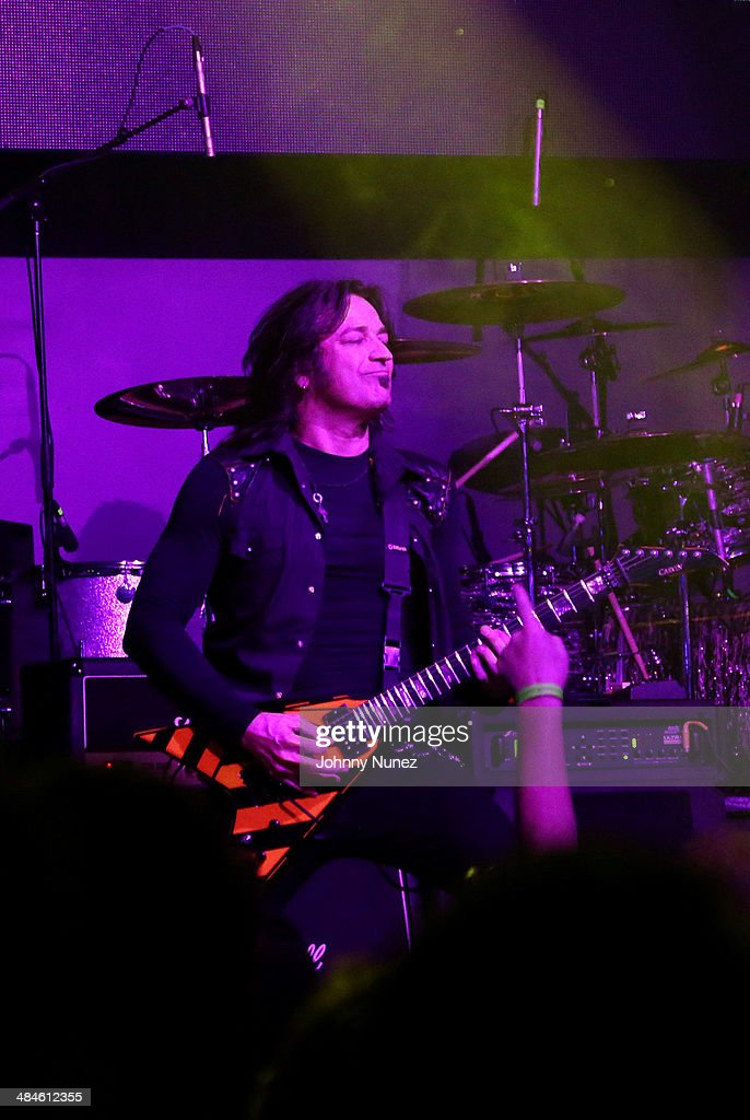 Stryper lead guitarist and vocalist Michael Sweet performs at Stage 48 on April 12, 2014 in New York City.