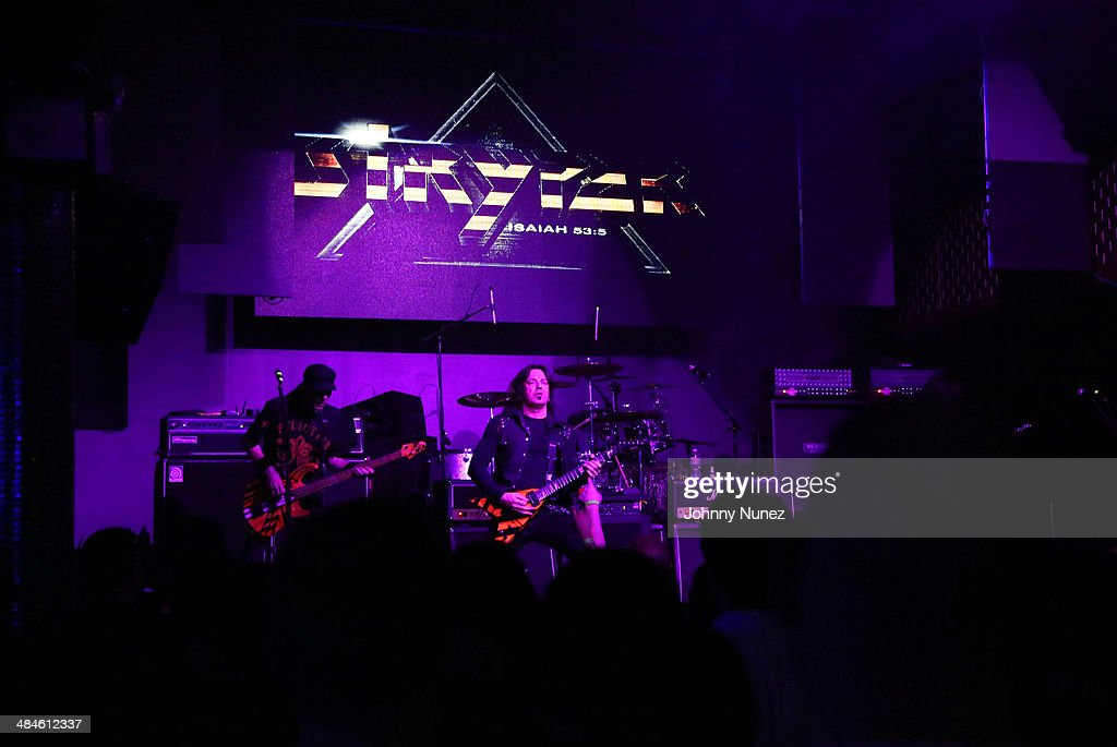 Stryper performs at Stage 48 on April 12, 2014 in New York City.