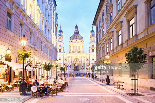 st.stephen?s basilica, zrinyi street - budapest stock pictures, royalty-free photos & images