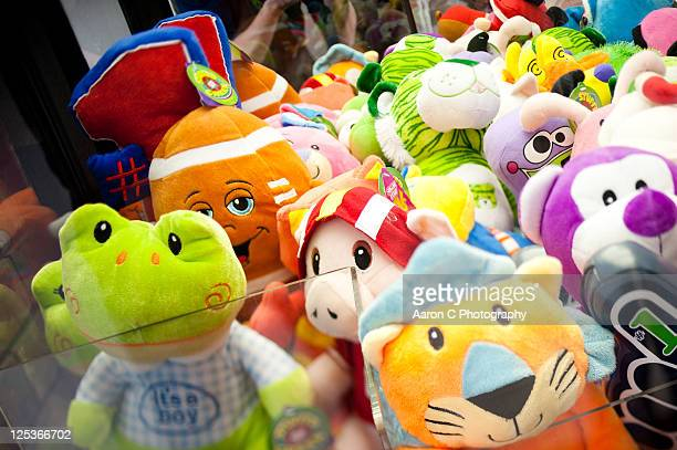 stSuffed animals in claw crane machine