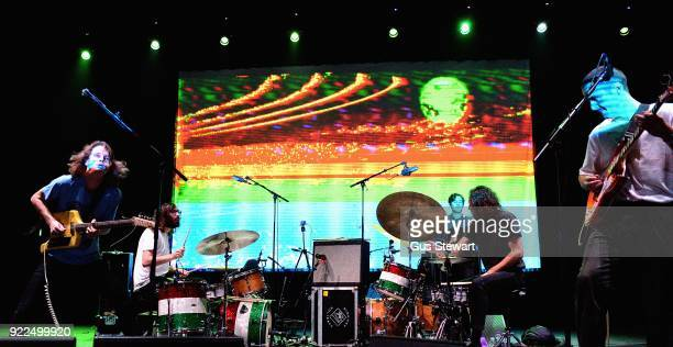 Stu Mackenzie and Joey Walker of King Gizzard The Lizard Wizard perform at the O2 Academy Brixton on February 21 2018 in London England