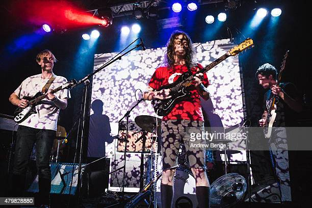 Stu Mackenzie of King Gizzard The Lizard Wizard performs on stage at Belgrave Music Hall on July 7 2015 in Leeds United Kingdom