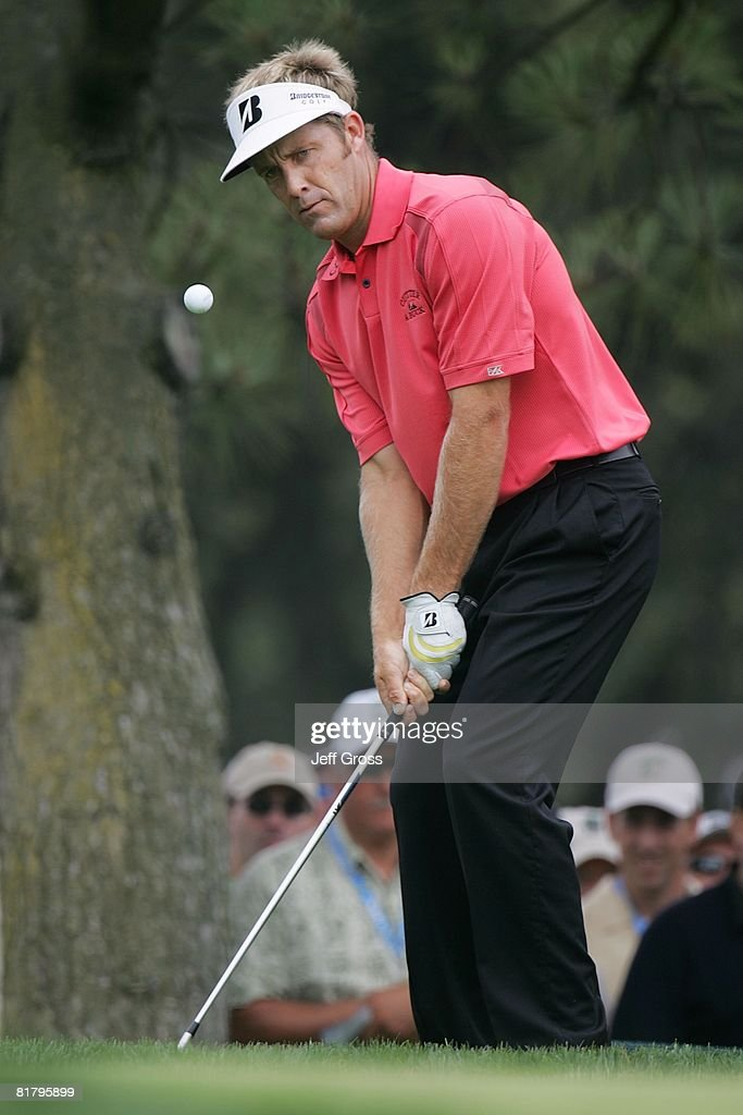 Stuart Appleby of Australia plays a shot during the third round of the 108th U.S. Open at the Torrey Pines Golf Course (South Course) on June 14, 2008 in San Diego, California.