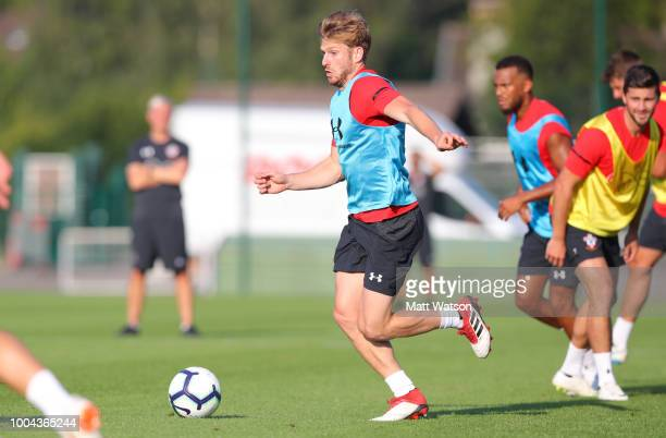 Stuart Armstrong as Southampton FC take part in their first day of their preseason training camp on July 23 2018 in EvianlesBains France