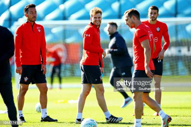 Stuart Armstrong during a Southampton FC training session at Staplewood Complex on October 1 2018 in Southampton England