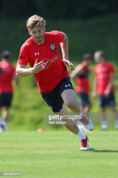 Stuart Armstrong during day 2 of Southampton FCs preseason training camp on July 24 2018 in EvianlesBains France