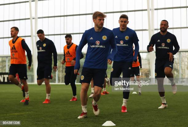 Stuart Armstrong is seen during a training session prior to the International Friendly match between Scotland and Costa Rica at Orium Sports Centre...