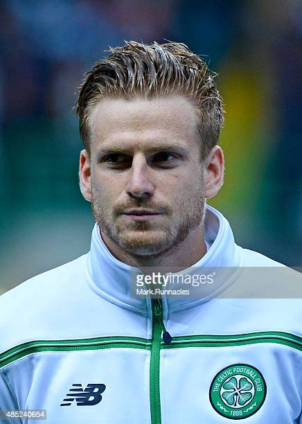 Stuart Armstrong of Celtic in action during the UEFA Champions League Qualifying play off first leg match between Celtic FC and Malmo FF at Celtic...