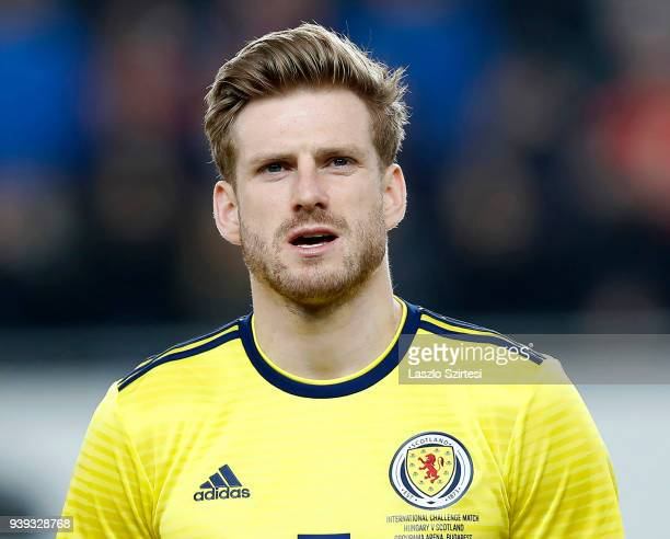 Stuart Armstrong of Scotland during the International Friendly match between Hungary and Scotland at Groupama Arena on March 27 2018 in Budapest...