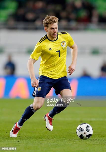 Stuart Armstrong of Scotland in action during the International Friendly match between Hungary and Scotland at Groupama Arena on March 27 2018 in...