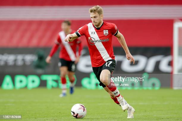 Stuart Armstrong of Southampton during the Premier League match between Southampton and Everton at St Mary's Stadium on October 25 2020 in...