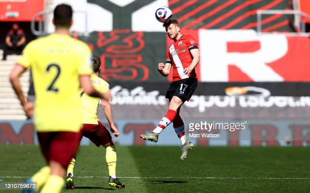 Stuart Armstrong of Southampton during the Premier League match between Southampton and Burnley at St Mary's Stadium on April 04, 2021 in...