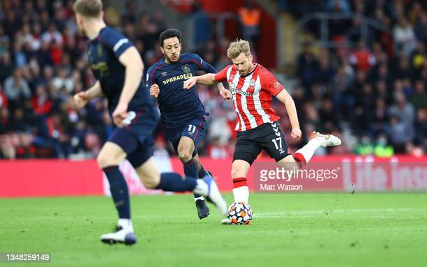 Stuart Armstrong of Southampton during the Premier League match between Southampton and Burnley at St Mary's Stadium on October 23, 2021 in...