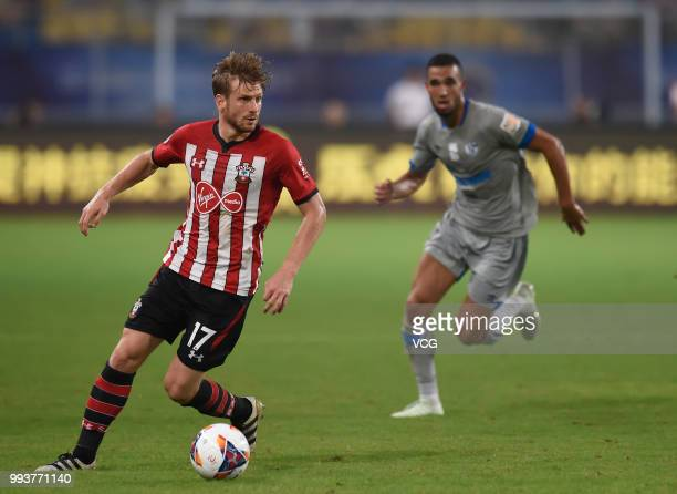 Stuart Armstrong of Southampton FC drives the ball during the 2018 Clubs Super Cup match between FC Schalke 04 and Southampton at Kunshan Sports...