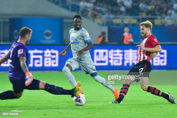 Stuart Armstrong of Southampton FC shoots the ball during the 2018 Clubs Super Cup match between FC Schalke 04 and Southampton at Kunshan Sports...