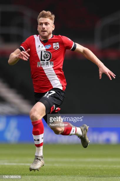 Stuart Armstrong of Southampton in action during the Premier League match between Southampton FC and Sheffield United at St Mary's Stadium on July 26...