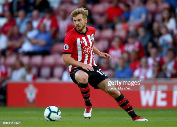 Stuart Armstrong of Southampton in action during the PreSeason Friendly match between Southampton and Celta Vigo at St Mary's Stadium on August 1...