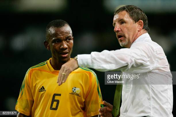 South african gift leremi stock photos and pictures getty images stuart baker coach of south africa talks to substitute gift leremi during the international friendly match negle Image collections