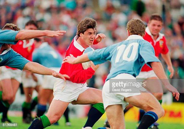 Stuart Barnes of the British Lions in action during the tour match between North Auckland and the British Lions on May 22 1993 at Whangarei New...