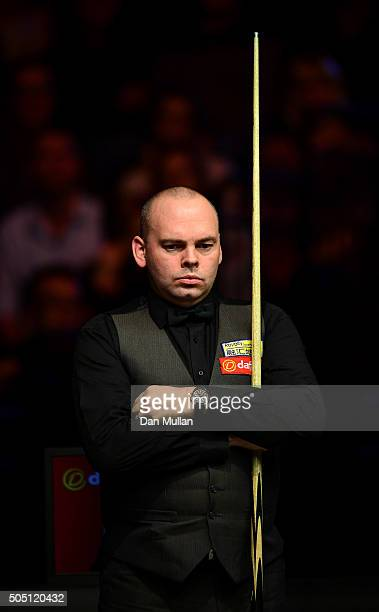 Stuart Bingham of England looks on during his quarter final match against John Higgins of Scotland during Day Six of The Dafabet Masters at Alexandra...