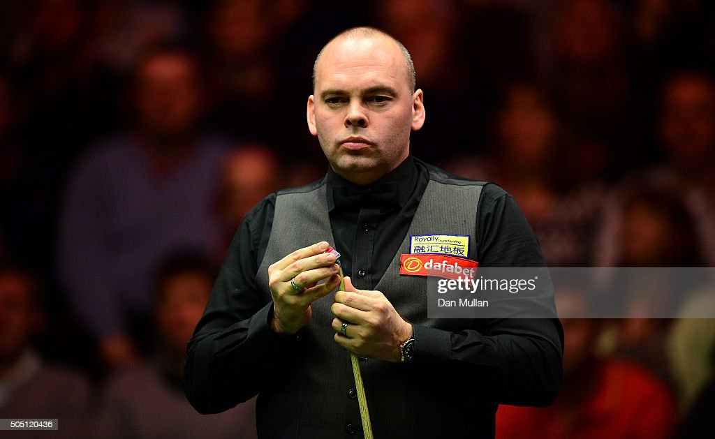 Stuart Bingham of England looks on during his quarter final match against John Higgins of Scotland during Day Six of The Dafabet Masters at Alexandra Palace on January 15, 2016 in London, England.