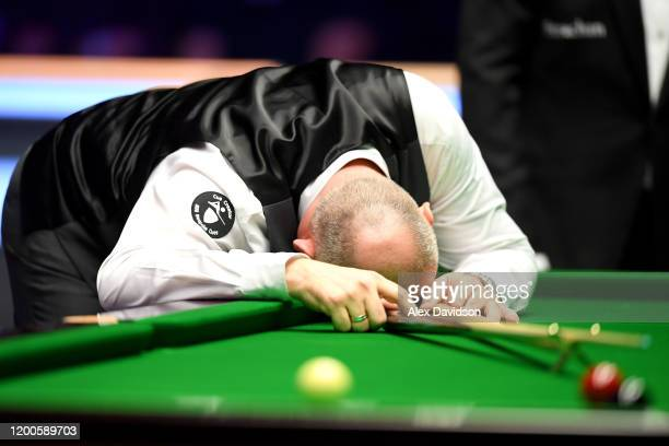 Stuart Bingham of England reacts during the Final of the Dafabet Masters between Stuart Bingham and Ali Carter at Alexandra Palace on January 19 2020...