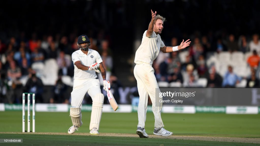 Stuart Board of England successfully appeals for the wicket of Ravichandran Ashwin of India during day two of the 2nd Specsavers Test between England and India at Lord's Cricket Ground on August 10, 2018 in London, England.