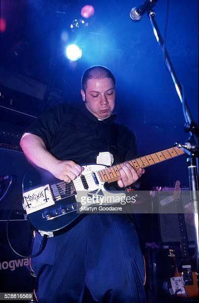 Stuart Braithwaite of Mogwai performs on stage United Kingdom 2000