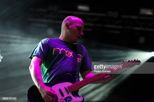 Stuart Braithwaite of Mogway performs on Day 3 of the NOS Alive Festival on July 11 2015 in Lisbon Portugal