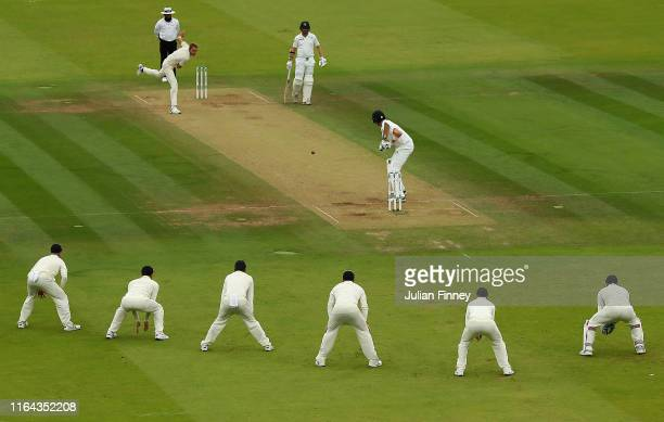 Stuart Broad of England bowling during day three of the Specsavers Test Match between England and Ireland at Lord's Cricket Ground on July 26 2019 in...