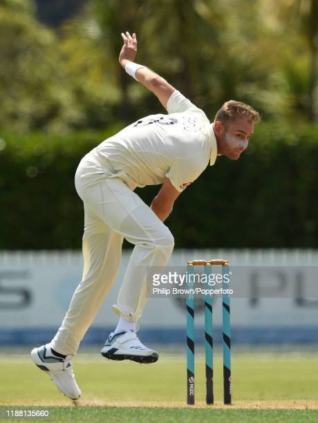 Stuart Broad of England bowls at Cobham Oval on November 17 2019 in Whangarei New Zealand
