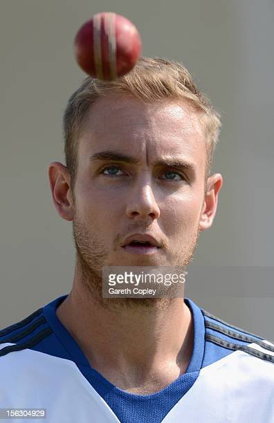 Stuart Broad of England during a nets session at Sardar Patel Stadium on November 13 2012 in Ahmedabad India