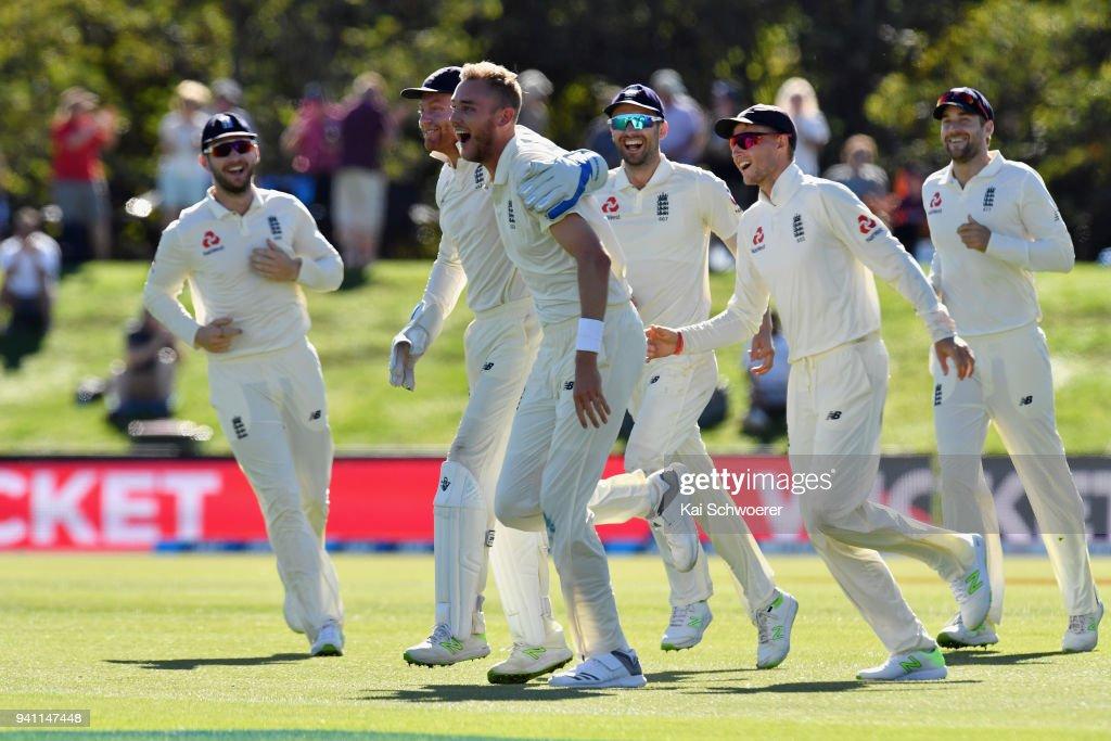 New Zealand v England - 2nd Test: Day 5 : News Photo