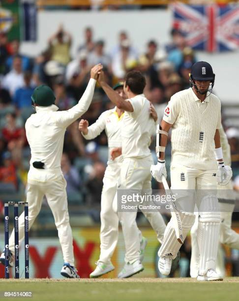 Stuart Broad of England walsk off after he was dismissed during day five of the Third Test match during the 2017/18 Ashes Series between Australia...