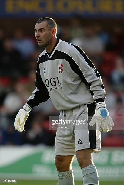 Stuart Brock of Kidderminster Harriers in action during the Pre-Season Friendly match between Kidderminster Harriers and Leicester City held on July...