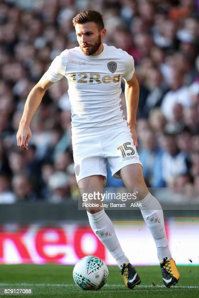 Stuart Dallas of Leeds United during the Carabao Cup First Round match between Leeds United and Port Vale at Elland Road on August 9 2017 in Leeds...